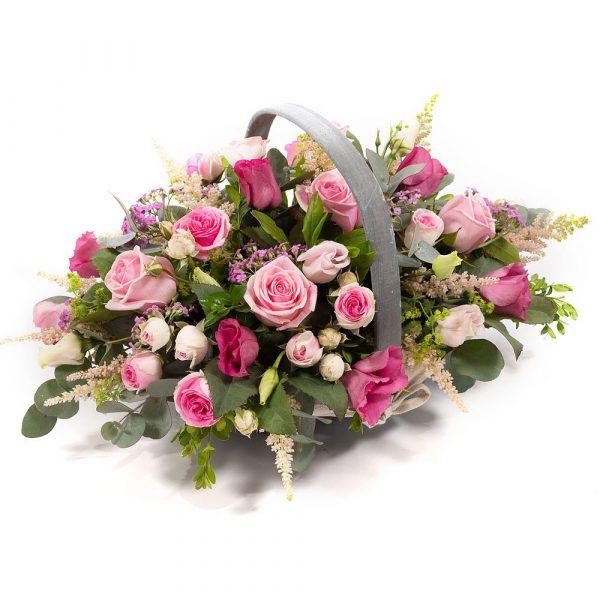 Pretty Pinks Flower Baskets - Best Buds Dublin