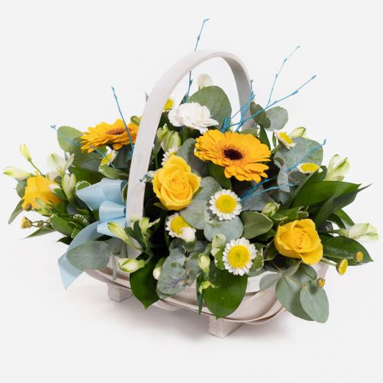 Yellows & Whites Basket