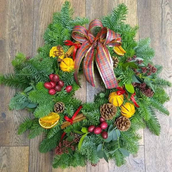 Natural Fruity Door Wreath 1