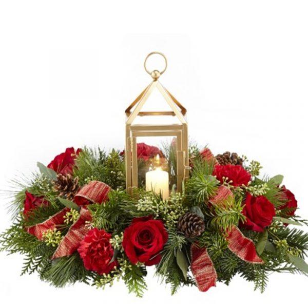 Christmas Lantern Arrangement 1