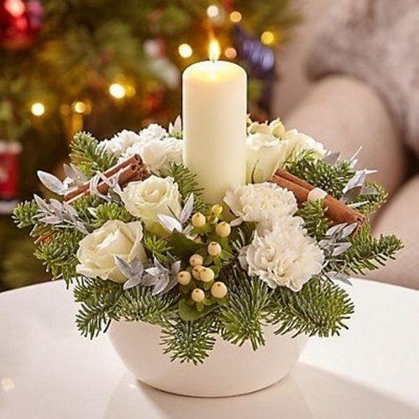 Single Candle Arrangement In Pot 1