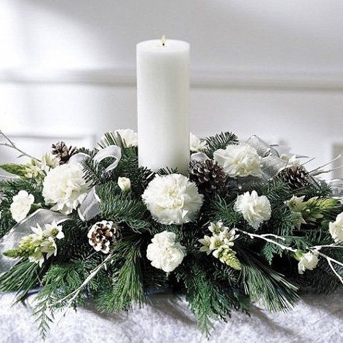 White Table Arrangement 1
