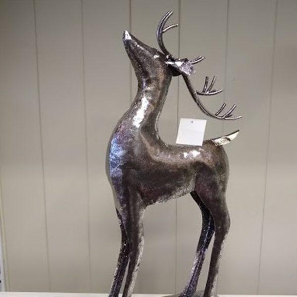Glittery Standing Deer Ornament 1